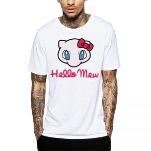Polera Pokemon Hello Mew Blanca Get Out