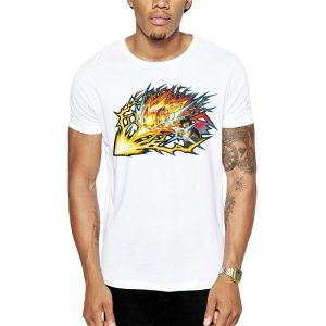 Polera Pokemon Pikachu Thunderbolt Blanca Get Out