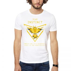 Polera Pokemon Go Team Instinct Blanca Get Out