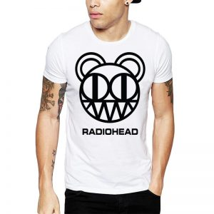 Polera Radiohead Bear Blanca Get Out