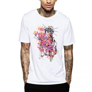 Polera Colorful Geisha Blanca Get Out