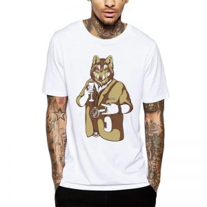 Polera Wolf Swag Blanca Get Out