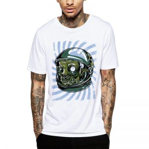 Polera Zombie Astronaut Blanca Get Out