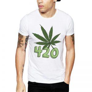 Polera 420 Cannabis Blanca Get Out