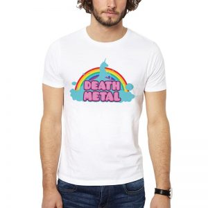 Polera Death Metal Clouds Blanca Get Out