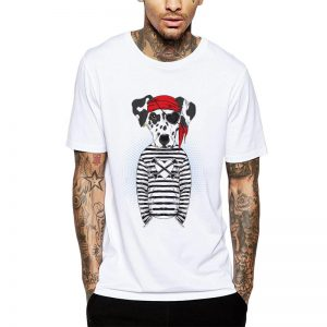 Polera Pirate Dalmata Blanca Get Out