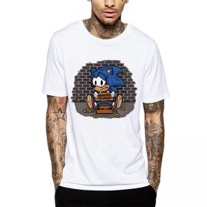 Polera Sonic Addicted To Speed Blanca Get Out
