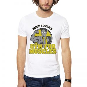 Polera Dwight Schrute's Gym For Muscles Blanca Get Out