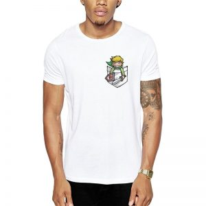 Polera Zelda Pocket Link Blanca Get Out