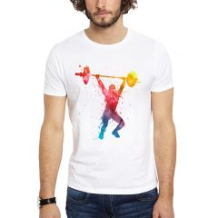Polera Crossfit Lifting Splash Blanca Get Out