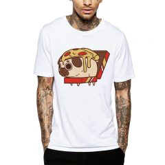 Polera Pizza Pug Blanca Get Out