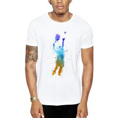 Polera Tennis Splash Man Blanca Get Out