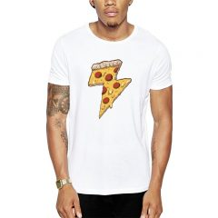 Polera Thunder Pizza Blanca Get Out