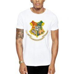 Polera Harry Potter Hogwarts Crest Blanca Get Out