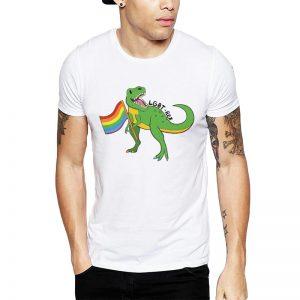 Polera LGBT-Rex Blanca Get Out