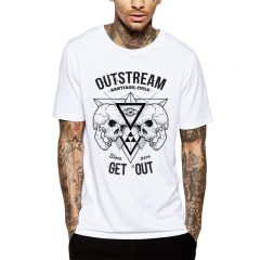 Polera Outstream Since 2016 Blanca Get Out