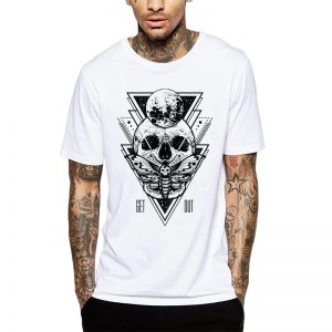 Polera Skull Born Begins Blanca Get Out