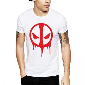 Polera Deadpool Bloody Icon Blanca Get Out