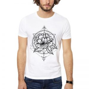 Polera Floral Geometry Blanca Get Out