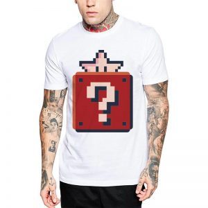 Polera Pixel Star Blanca Get Out