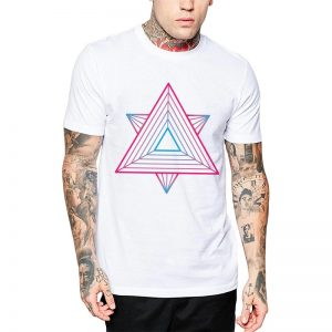 Polera Sacred Geometry Blanca Get Out