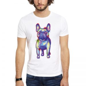 Polera Watercolor French Bulldog Blanca Get Out