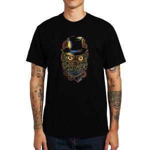 Polera Steampunk Owl Algodón Get Out