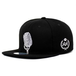 Gorro Micrófono Negro Snapback DoubleAA Premium AA190285