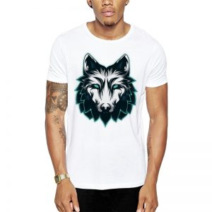 Polera Anima Wolf Blanca
