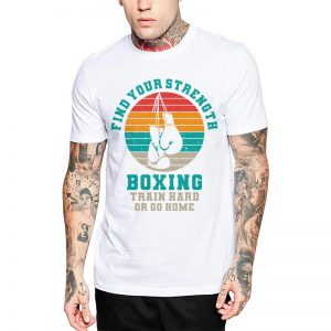 Polera Find Your Strength Boxing Blanca