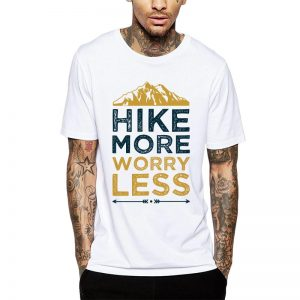 Polera Hike More Worry Less Blanca