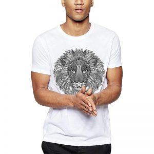 Polera Mandala Lion Blanca