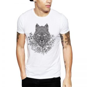 Polera Mandala Wolf Blanca