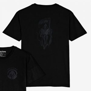 Polera Rey Rata Black On Black Bad Karma