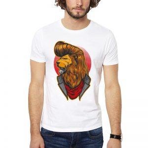 Polera Rebell Lion Blanca