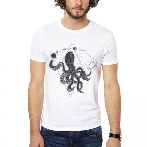Polera Universal Octopus Blanca