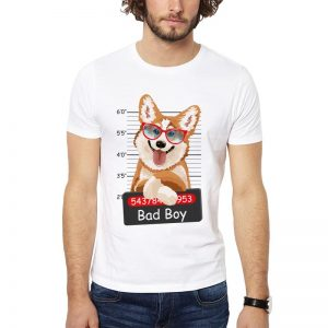 Polera Bad Boy Corgi Blanca