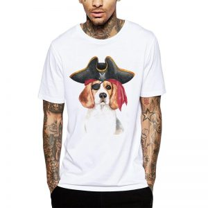 Polera Pirate Beagle Blanca