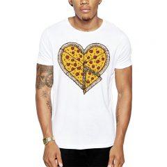 Polera Pizza Heart Blanca