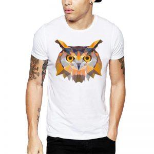 Polera Polygonal Brown Owl Blanca
