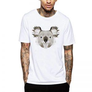 Polera Polygonal Koala Blanca