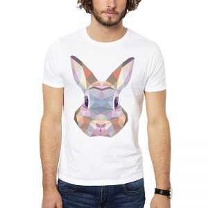 Polera Polygonal Rabbit Blanca